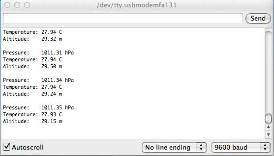 BMP085 Sensor Results