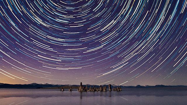 An example of star trail photography