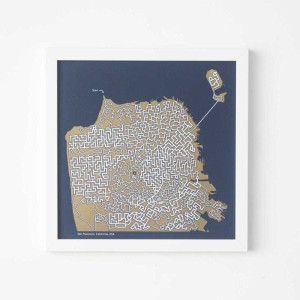 City Maze Map Prints