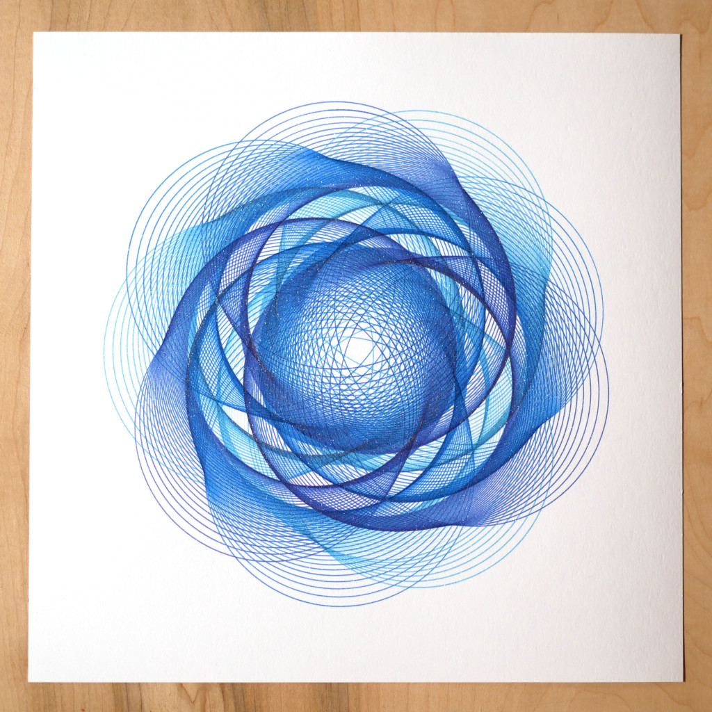 generative art by michelle chandra creative code art spirograph design created with axidraw and processing
