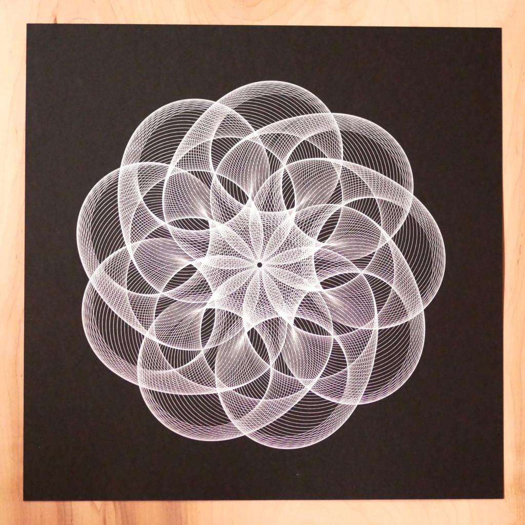 spirograph generative art print
